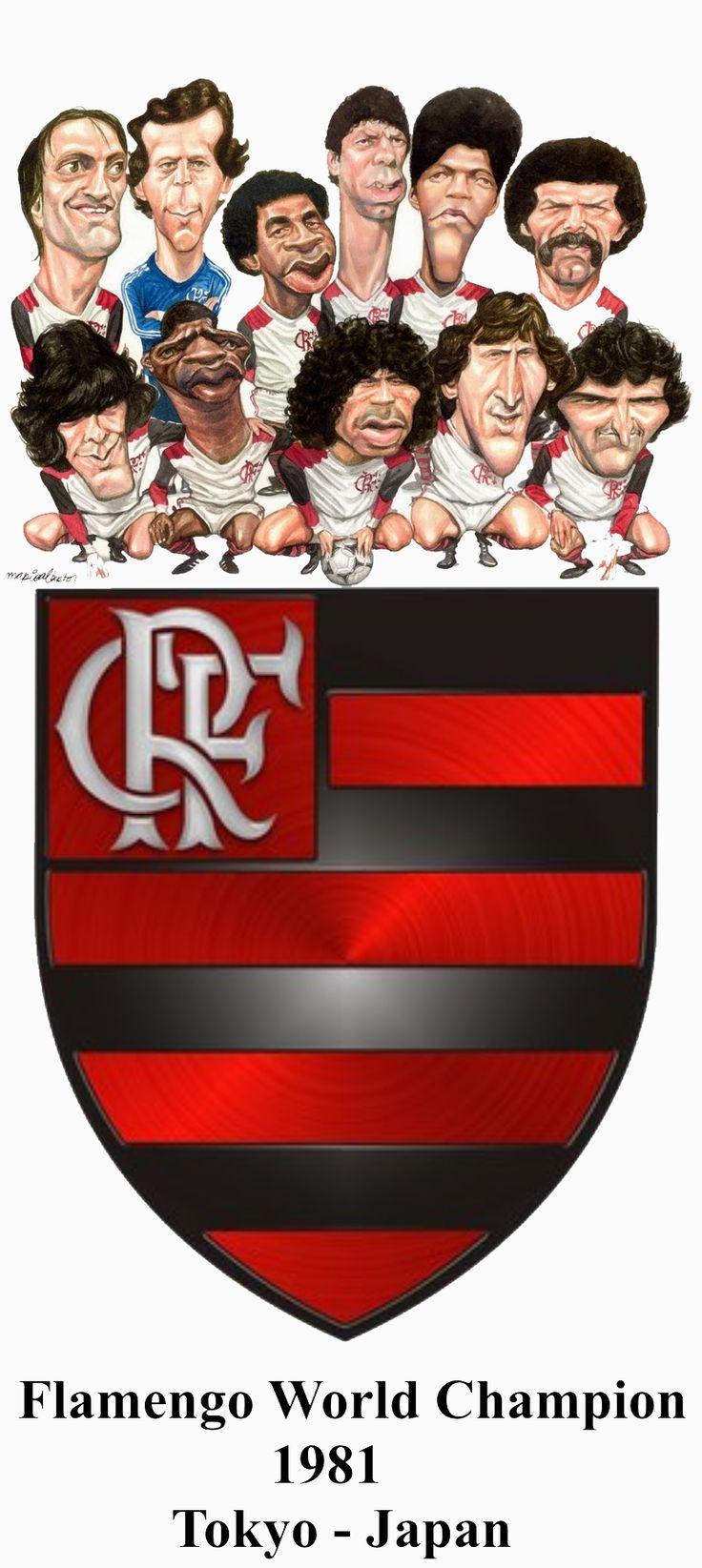 Flamengo World Champion 1981 - Tokyo, Japan - Montagem de Antônio Lídio Gomes