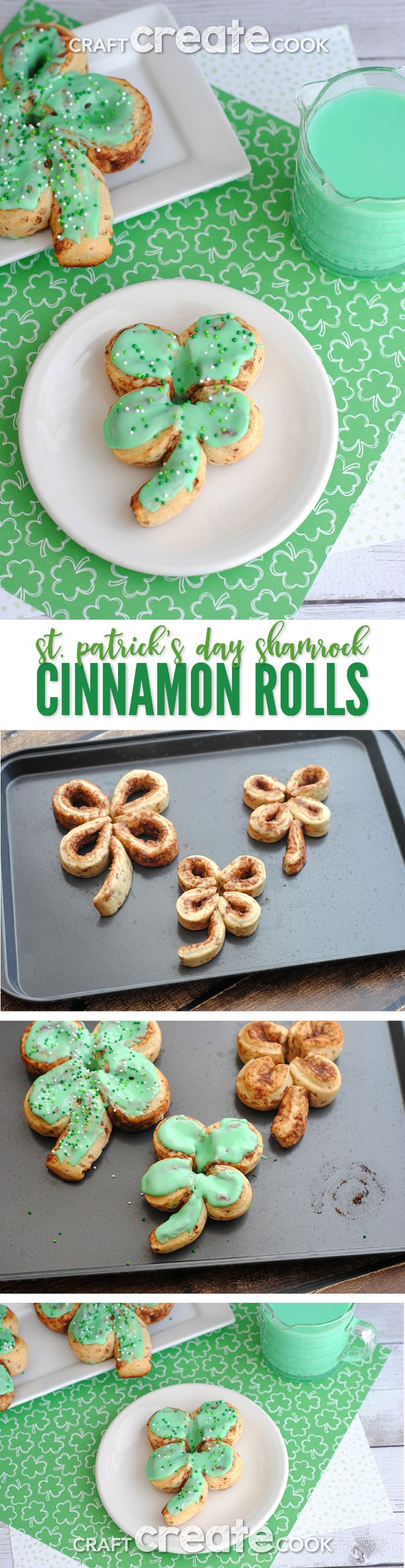 St. Patrick's Day Cinnamon Rolls are sure to be the luckiest breakfast! via @CraftCreatCook1