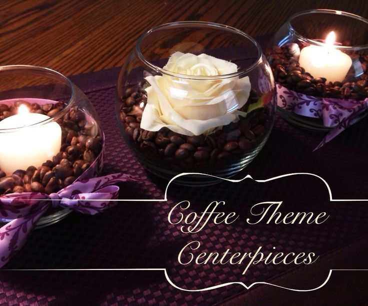 My Coffee Theme Centerpieces
