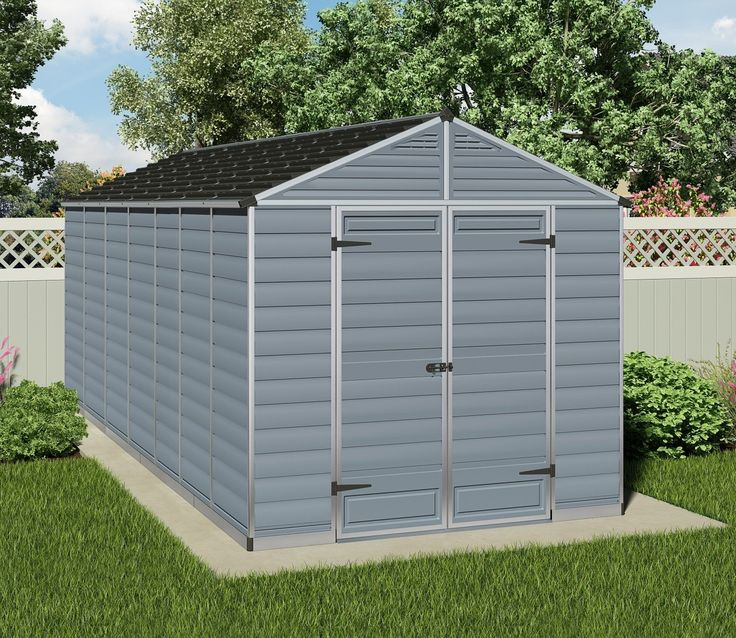 palram skylight anthracite polycarbonate shed 8x16