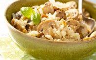Voici une recette id�ale pour une soir�e d'automne : le risotto aux champignons onctueux et au parmesan.