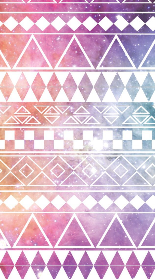 Pink galaxy aztec print | Iphone wallpapers ️ | Pinterest ...
