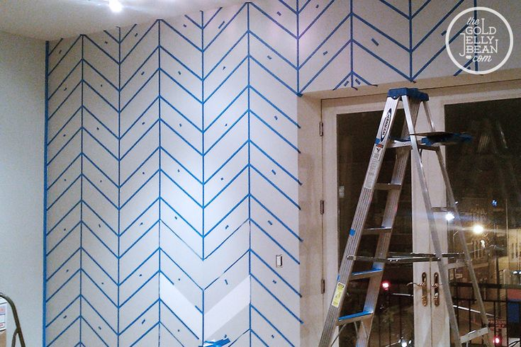 how to paint chevron wall