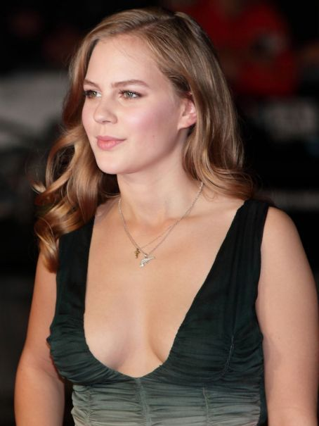 Alicia von Rittberg Braless Cleavetastic Steals the Camera Thunder at Fury Premiere