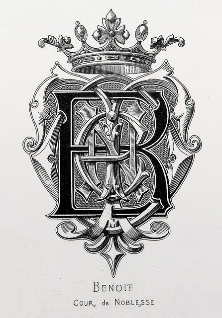 "Monogram ""Benoit"" by Charles Demengeot - 1877"