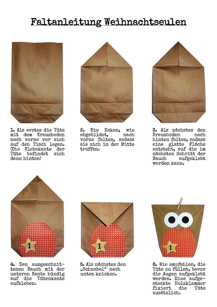 Amazon.de: DIY Adventskalender Set zum Basteln - Weihnachtseulen - Eulen…