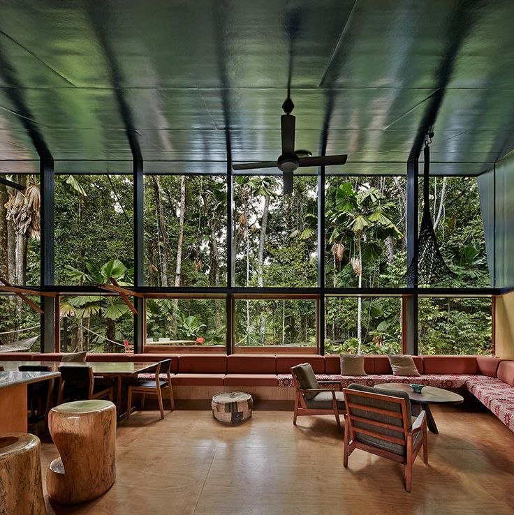 A house designed for life in a tropical rainforest.