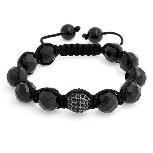 Bling Jewelry Black Crystal Ball Shamballa Inspired Bracelet Faceted Bead Unisex 12mm Bling Jewelry. $19.99. Weighs 15.5 grams. Black crystal ball centerpiece. Faceted onyx bracelet. Inspired by Shamballa Jewels. Adjustable 6 to 9in. Save 58%!