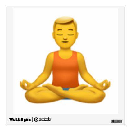 Man in Lotus Position - Emoji Wall Sticker - walldecals home decor cyo custom wall decals