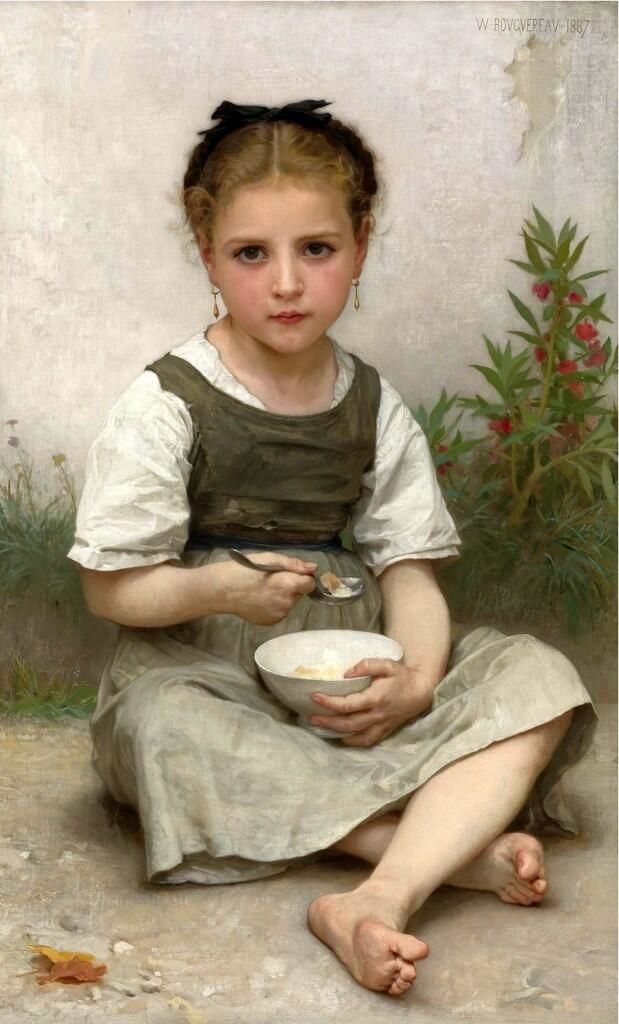 'Morning Breakfast', William-Adolphe Bouguereau, 1887