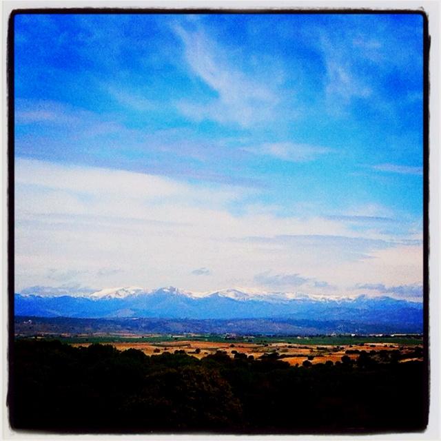 Vista a la 'sierra nevada' --//-- Zicht op besneeuwde bergen