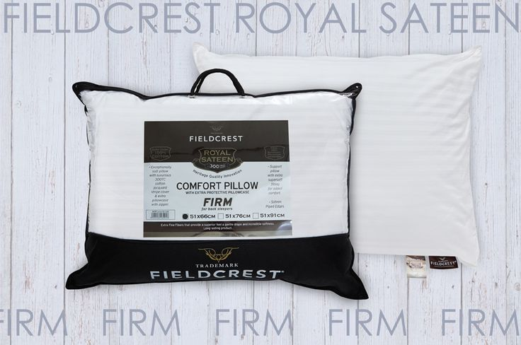 Pillow FIELDCREST Royal Sateen siliconized micromax filling 100% Cotton 300TC with extra separate Pillowcase. Firm for side sleepers