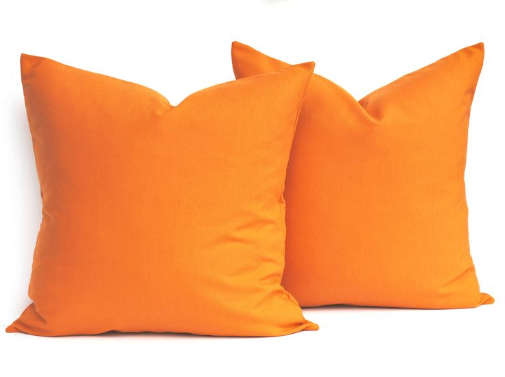 Two indoor/outdoor pillow cover, DIFFERENT SIZES AVAILABLE, decorative throw pillow, Orange pillow, Outdoor pillow by ThatDutchGirlHome on Etsy