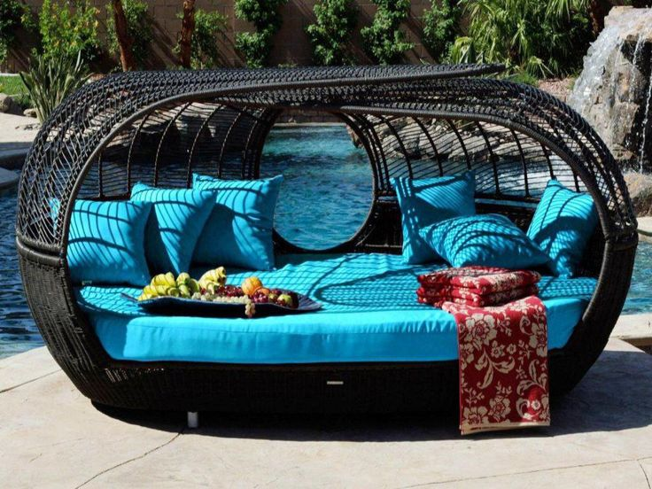 Image Of: Wicker Daybed With Canopy