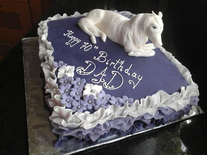100% handmade Horse on a special birthday cake