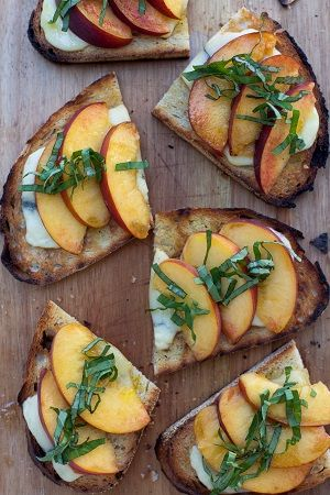 Summertime in Oregon means peaches, and peaches are delicious. Check out how Amuse Restaurant in Ashland prepares their bruschetta with peaches.