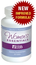 Women's Essentials - Re-ignite your physical, mental and emotional health with Women's Essential Vitamin Supplements.  Now it's time to start taking care of you!