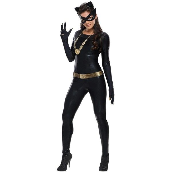 Batman Classic 1966 Series Grand Heritage Catwoman Adult Costume ($122) ❤ liked on Polyvore featuring costumes, halloween costumes, cat halloween costumes, adult halloween costumes, adult costumes, cat costumes and party costumes