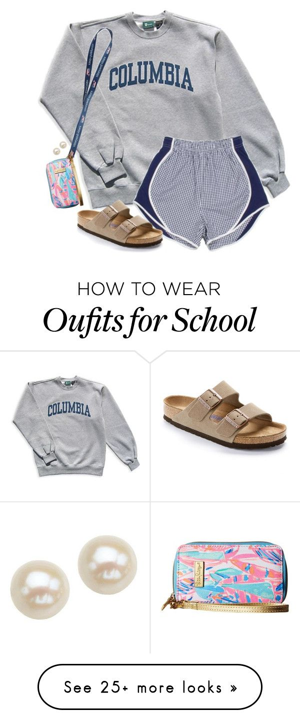 """I love this outfit & idk why"" by aweaver-2 on Polyvore featuring Columbia, Birkenstock, Lilly Pulitzer and Honora"