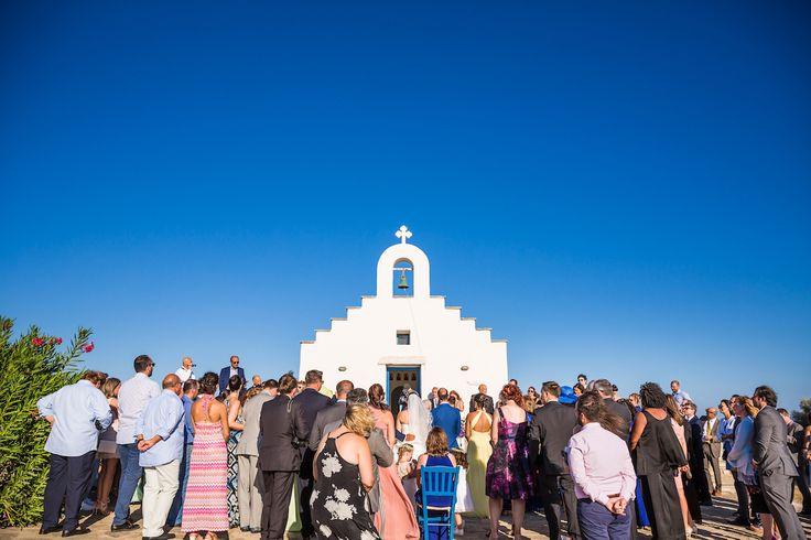orthodox ceremony wedding paros greece seaside church golden beach bridal bouquet chaniotis