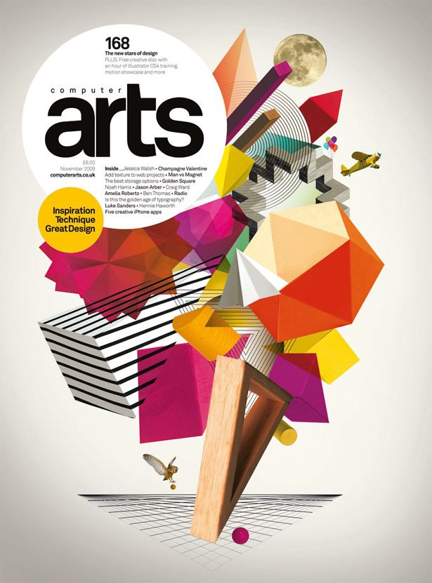 Jessica's cover for issue 168 of Computer Arts, where she was named our number one 'New Star of Design'