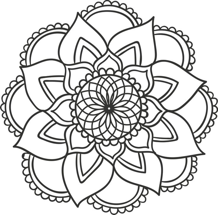 Line Drawing Mandala : Best mandala drawing images on pinterest adult