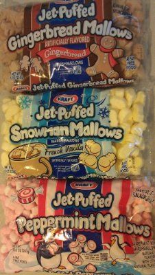 Kraft Holiday Marshmallow Variety 3-pack! Gingerbread, French Vanilla Snowmen, and Peppermint Minis-for hot chocolate bar