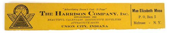 Harrison Union City IN vintage advertising by BookandPaperShop