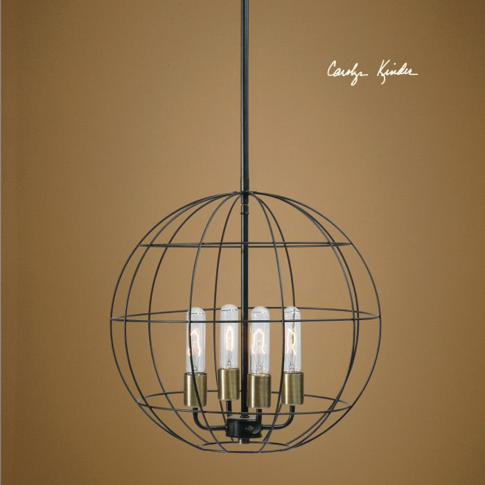 Uttermost Palla 4 Lt Pendant Taking The Clean Lines Of A Globe We Have Created