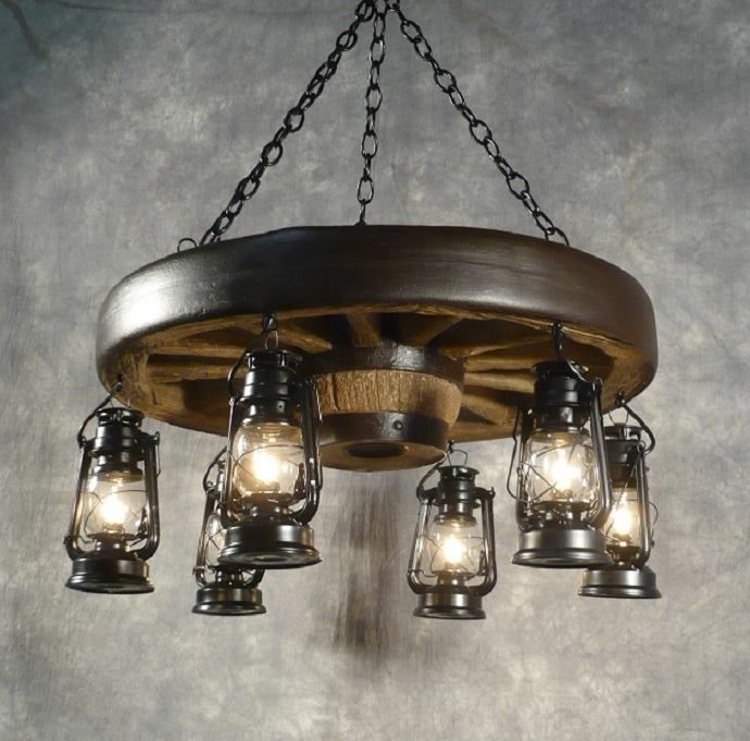 Nice western style lamp for lighting in the bar area