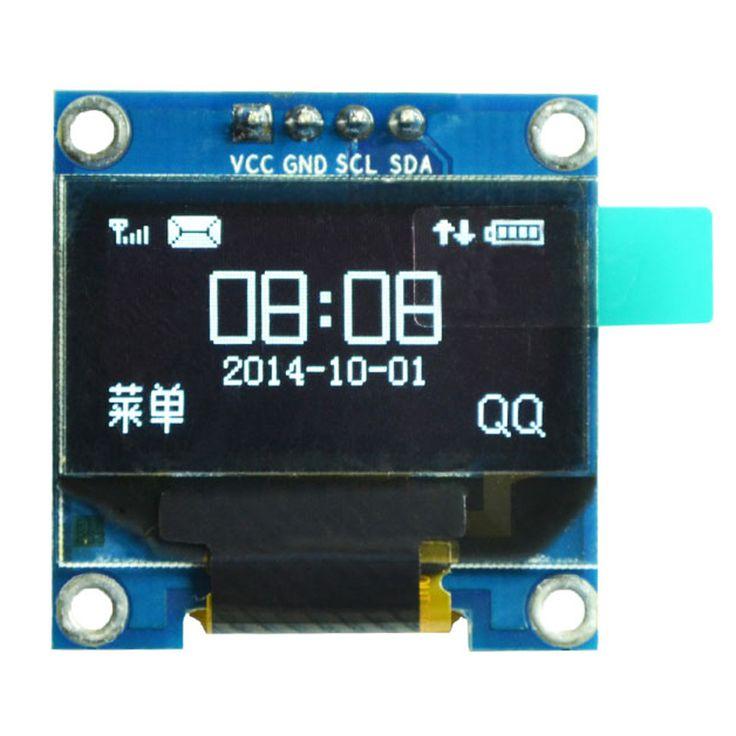 """0.96インチiicシリアル白色oledディスプレイモジュール128 × 64 i2c ssd1306 12864液晶画面ボードgnd vcc scl sda 0.96 """"arduinoのため"""