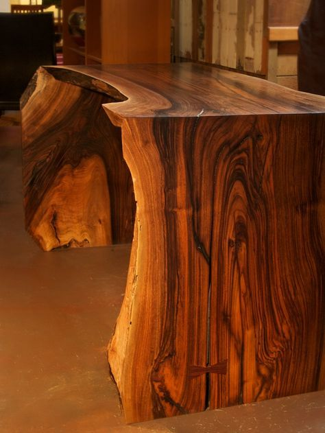 10 best live edge waterfall tables images on pinterest for Live edge wood slabs new york