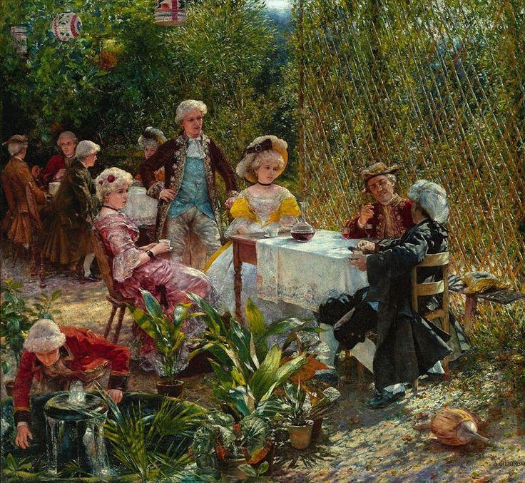 Aleksander Gierymski (1850-1901), W altanie, 1882, olej, płótno → wiecej za temat obrazu  http://bit.ly/1UQ1v0Q