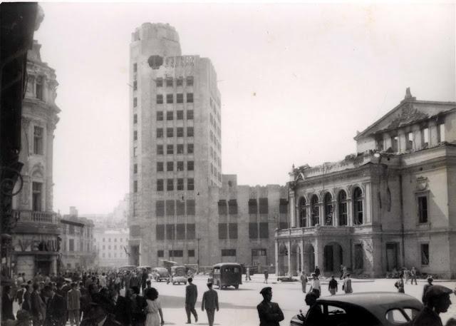Bucuresti - Palatul Telefoanelor - Teatrul National - 1944 - bombardate