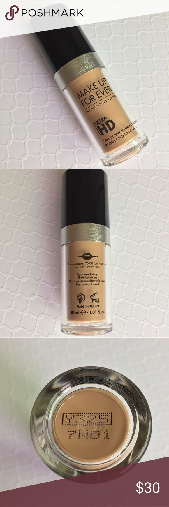 MAKE UP FOR EVER Y325 ULTRA HD FOUNDATION Make Up For Ever Ultra HD Invisible Cover Foundation in shade Y325. Brand new, never used or swatched, no box. Full-sized product. 100% authentic! Please refer to website or your nearest store for color match.  🎁FREE GIFT WITH PURCHASE ON EVERY BUNDLE!  🚫NO TRADES🚫 Makeup Forever Makeup Foundation