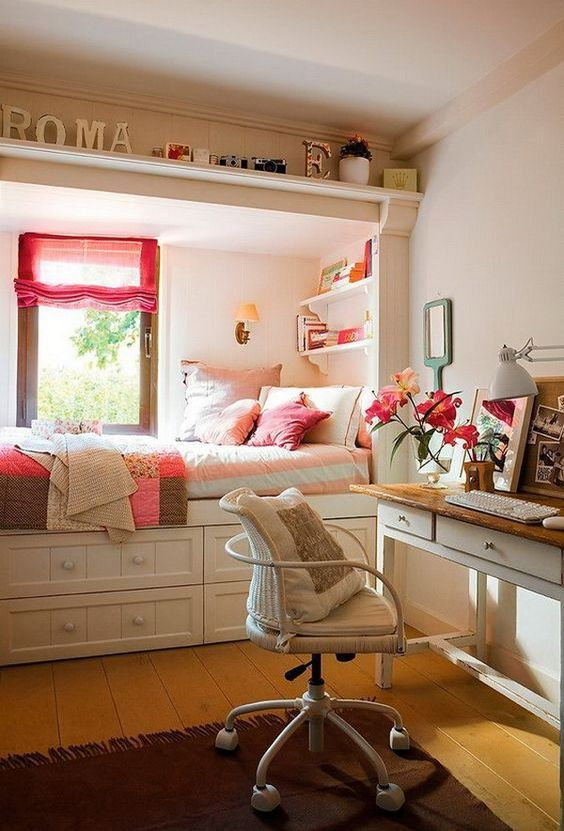 Best 25+ Small teen bedrooms ideas on Pinterest | Small teen room, Design  for small bedroom and Teen bedroom desk
