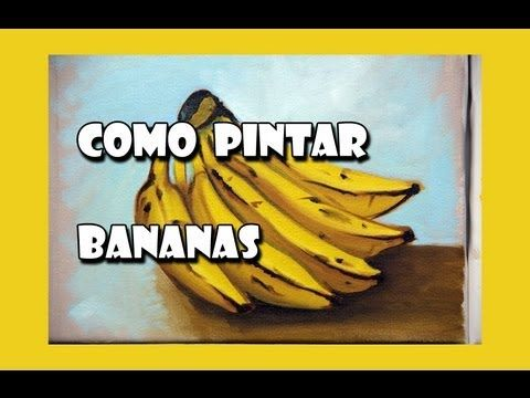 Como Pintar : Bananas ( Passo a Passo ) - YouTube