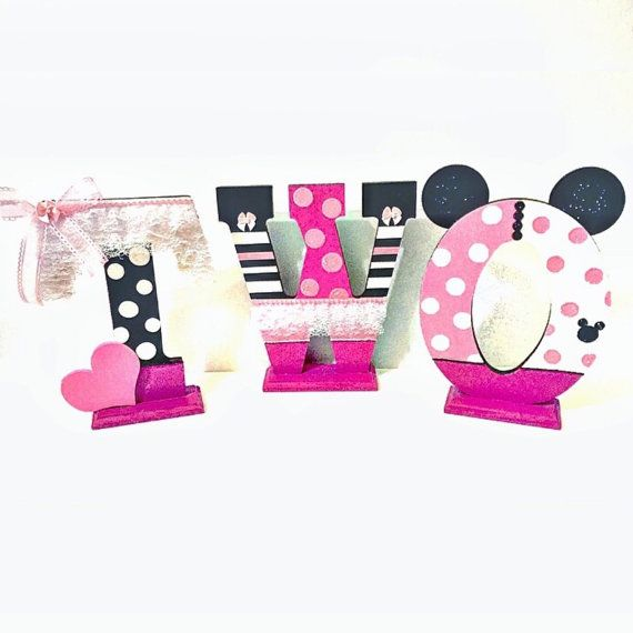 Second Birthday Photo Prop Minnie Mouse Inspired by ThePurpleGoat