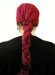 braided square scarf