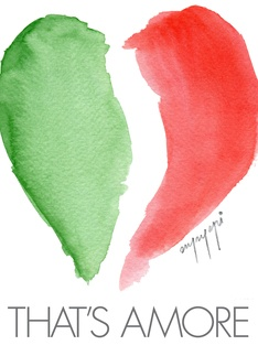 That's Amore Greeting Card. Love the Italian flag in the shape of the heart with those lyrics!