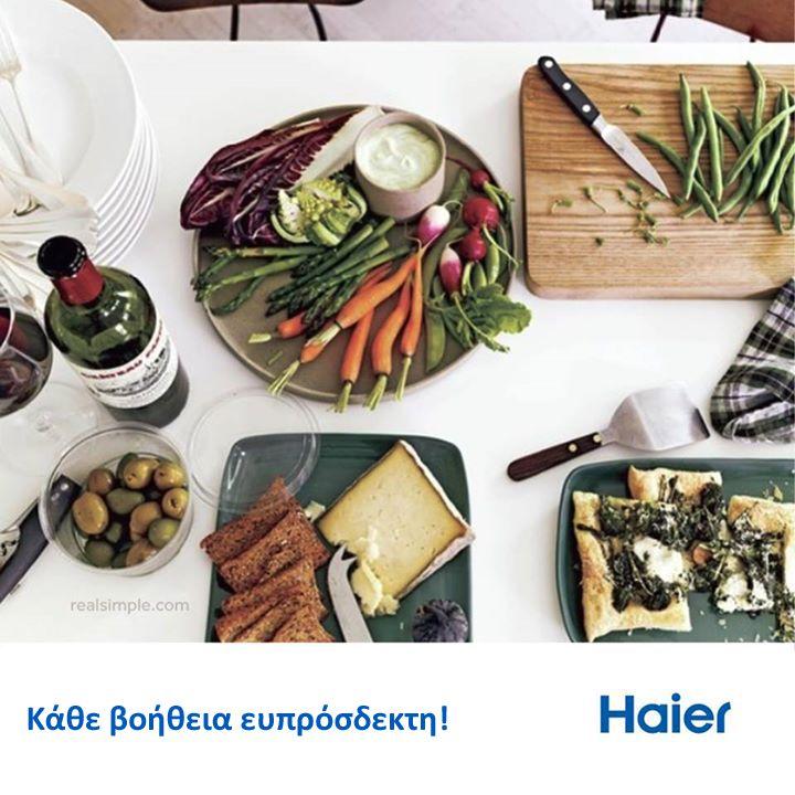 #TroposZois Στο επόμενο δείπνο με φίλους μοιράστε μικρές δουλειές στους καλεσμένους σας που προσφέρονται να βοηθήσουν! Μπορούν να σερβίρουν το κρασί, τα ορεκτικά ή να στολίσουν το τραπέζι και έτσι η προετοιμασία του δείπνου θα γίνει παιχνίδι!  #HaierGR