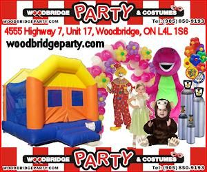 Woodbridge Party & Costumes located in Vaughan, Ontario, Canada. Entertainers, Party Supplies, Balloon and Party Decorations, Face Painters, Balloon Twisters, Magicians, Airbrush Tattoos, Bouncy Castle Rentals and more.