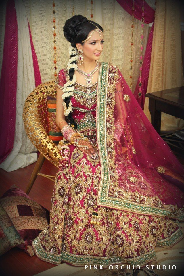 Beautiful skirt on the lehenga. So heavy you can't do anything but sit and look pretty.