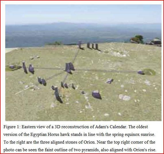 "ADAM'S CALENDAR*-oldest known Man Made Structure on planet earth. ""A stone calendar that is apparently older than 75 000 years has been discovered in Mpumalanga. Tellinger said that once the world begins to hear of Adam's Calendar, SA could become the new Egypt, where archaeologists and astrologers will come to do research into a whole new period of human development. He said they dated the rocks in several ways to come to the conclusion the stones were moved there 75 000 years ago."