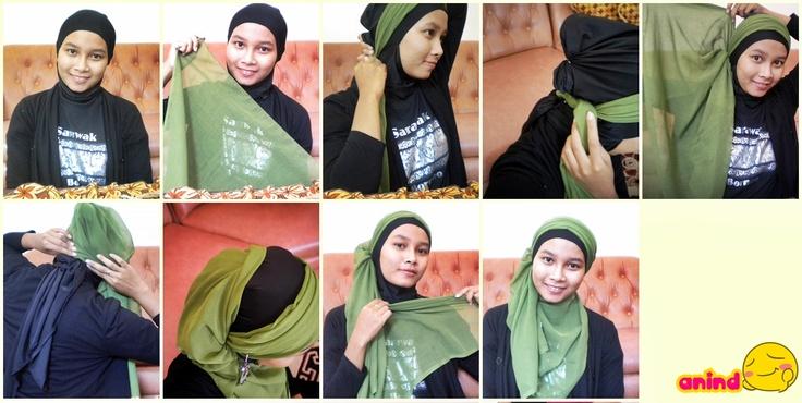 half turban hijab tutorial by anindrustiyan