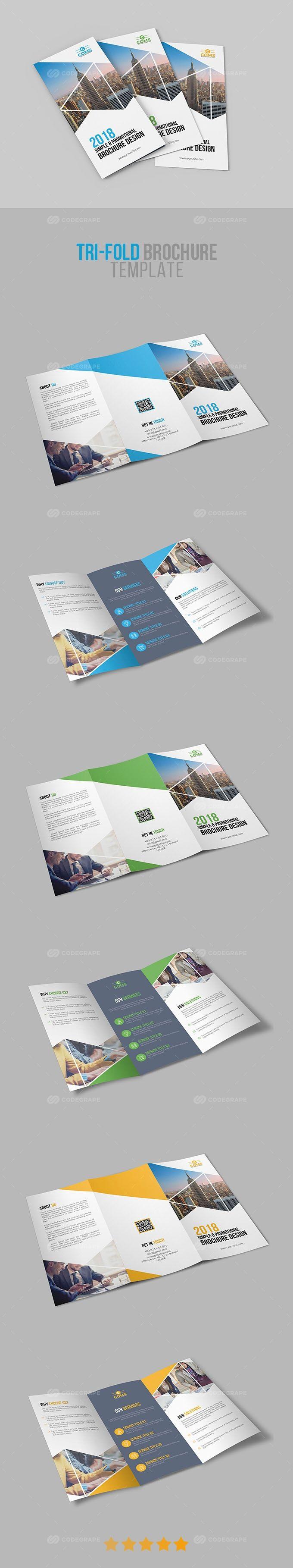 Corporate Tri-Fold Brochure Template 02 on @codegrape. More Info: https://www.codegrape.com/item/corporate-tri-fold-brochure-template-02/17416