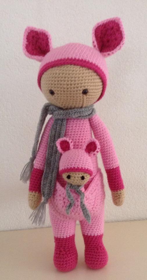 KIRA the kangaroo made by Irene J.-K. / crochet pattern by lalylala