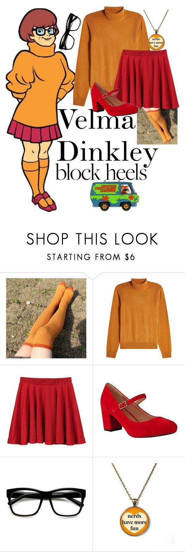 """""""Velma Dinkley"""" by musicallymasked ❤ liked on Polyvore featuring Maison Margiela and ZeroUV"""