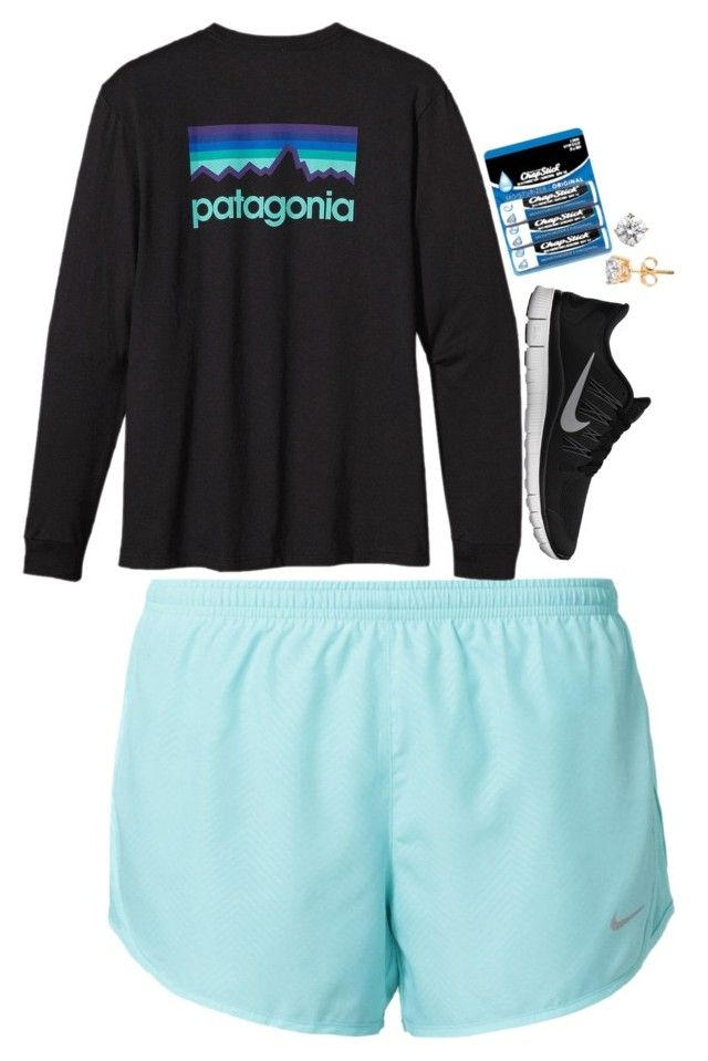 """not feeling cute clothes"" by brooklm ❤ liked on Polyvore featuring NIKE, Patagonia, Chapstick, women's clothing, women's fashion, women, female, woman, misses and juniors"