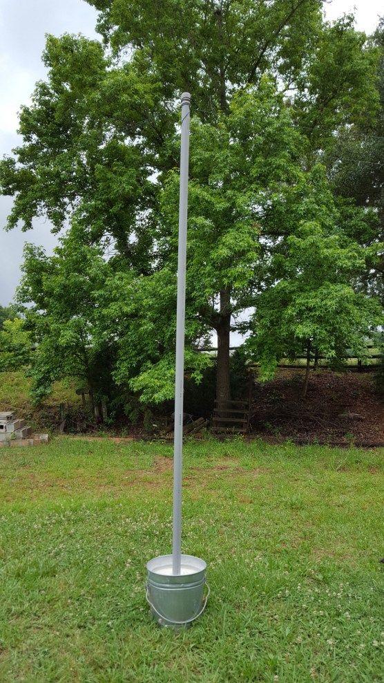 Mobile String Light Poles Easy Diy Patio Backyard